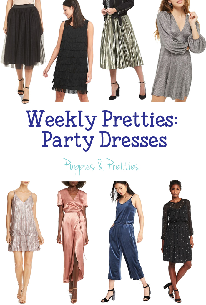 Weekly Pretties: Party Dresses | Get ready for NYE with great party dresses | Puppies & Pretties